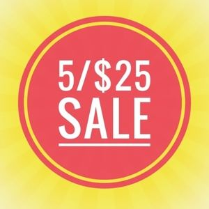 5/$25 Sale!  Look for items starting with ●5/$25●